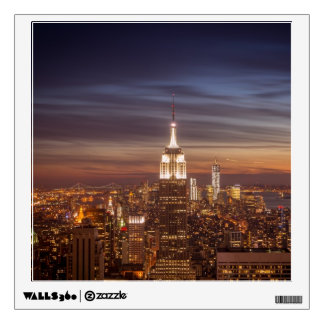New York Cityscape Skyline - Skyscrapers at Sunset Wall Decal