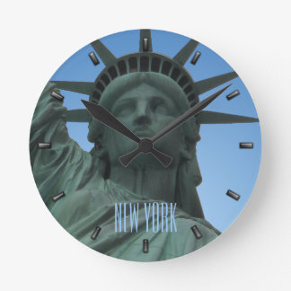 New York  Clock Statue of Liberty Wall Clock