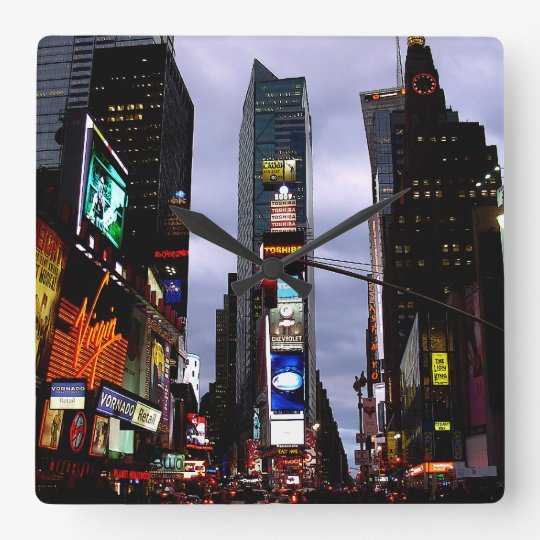 New York Clock Times Square Ny Wall Clock Zazzle Com