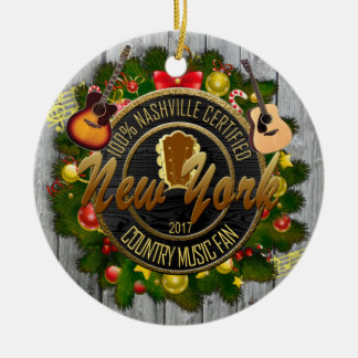 New York Country Music Fan Christmas Ornament