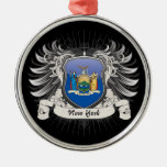 New York Crest Christmas Tree Ornaments