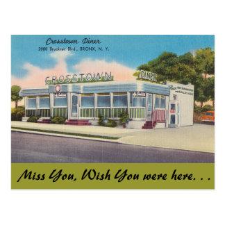 New York, Crosstown Diner, Bronx Postcard