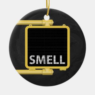 New York Crosswalk Sign Smell Ceramic Ornament
