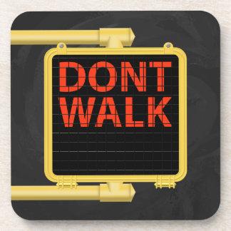 New York Crosswalk Sign Walk Beverage Coaster