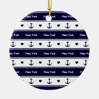 New York cruises pattern Ceramic Ornament