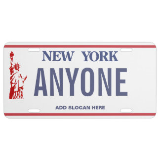 New York Custom License Plate