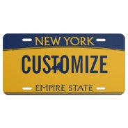 New York Custom License Plate at Zazzle
