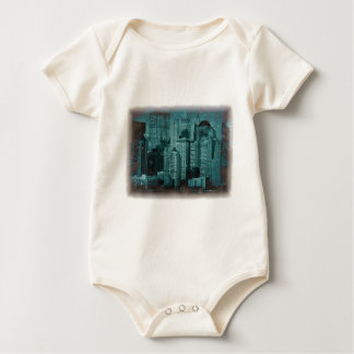 New York - Damaged Photo Effect Baby Bodysuit