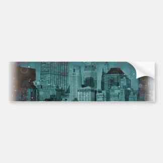 New York - Damaged Photo Effect Bumper Sticker