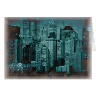 New York - Damaged Photo Effect Card