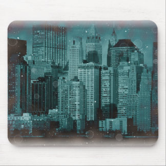 New York - Damaged Photo Effect Mouse Pad