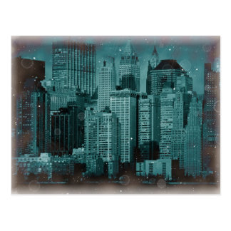 New York - Damaged Photo Effect Postcard