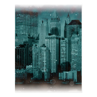 New York - Damaged Photo Effect Postcard