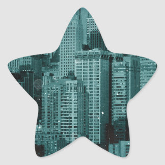 New York - Damaged Photo Effect Star Sticker