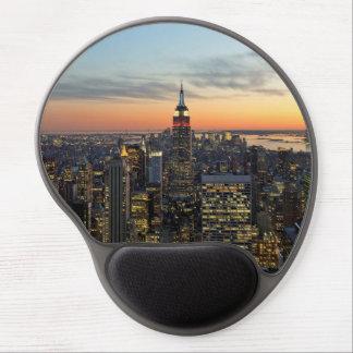 New York dawn skyline Gel Mouse Pad
