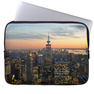 New York dawn skyline Laptop Sleeve