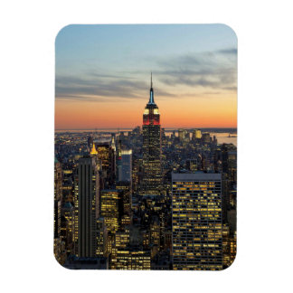 New York dawn skyline Magnet