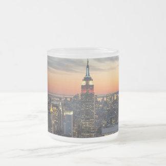 New York dawn skyline Mugs