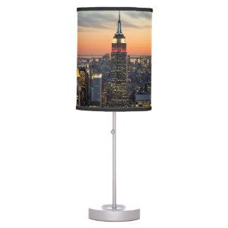 New York dawn skyline Table Lamp