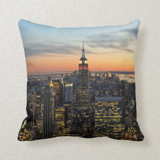 New York dawn skyline Throw Pillow
