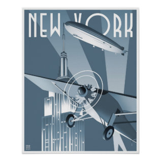 New York Dirigible Poster at Zazzle