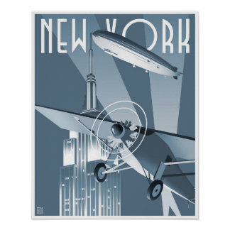 New York Dirigible Poster