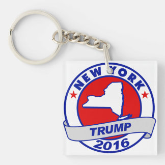 new york Donald Trump 2016 Donald Trump 2016.png Single-Sided Square Acrylic Keychain