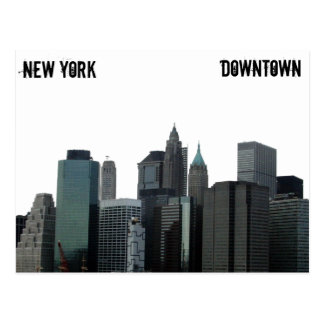 New York Downtown Postcard