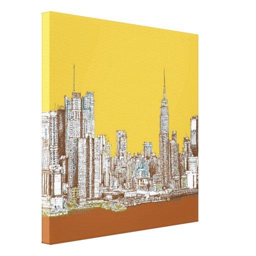 New York drawing Canvas Print
