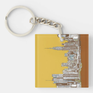 New York drawing Keychain