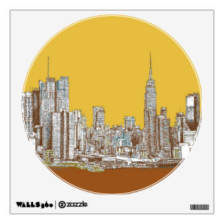 New York drawing Wall Decal
