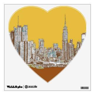 New York drawing Wall Sticker