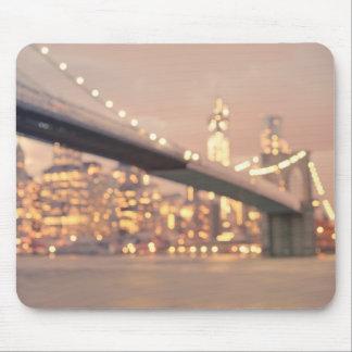 New York - Dreamy Bokeh Brooklyn Bridge Mouse Pad
