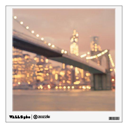 New York - Dreamy Bokeh Brooklyn Bridge Wall Sticker