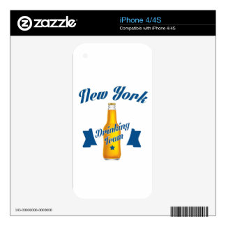 New York Drinking team Decal For The iPhone 4S