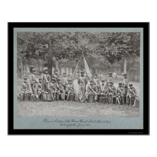 New York Drum Corps in Arlington, VA 1861 Poster
