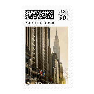 New York, E 42 St and Chrysler Building Postage