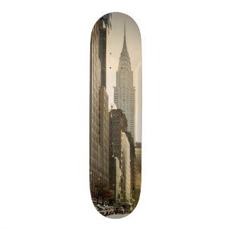 New York, E 42 St and Chrysler Building Skateboard