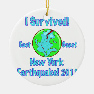 New York Earthquake of 2011 Ceramic Ornament