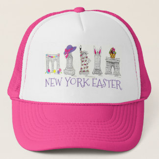 New York Easter NYC Landmarks Egg Bunny Basket Hat