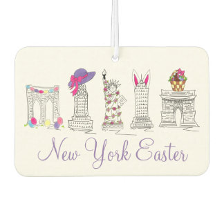 New York Easter Parade NYC Landmarks Egg Bunny Car Air Freshener