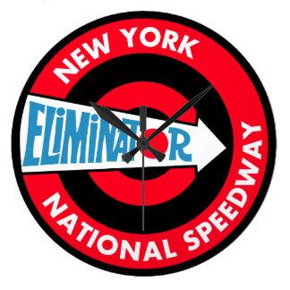 New York Eliminator National Speedway sign Large Clock