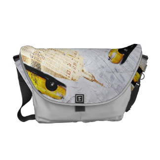 New York Empire state building messenger bag