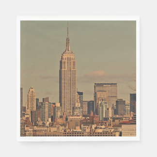 new york, empire state building standard luncheon napkin