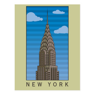 New York Empire State Building Postcard