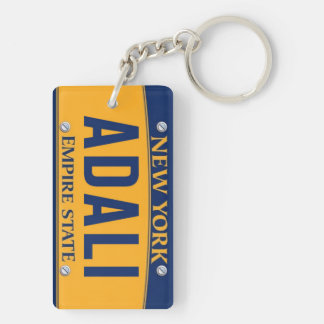 New York Empire State License Plate Art Custom Keychain