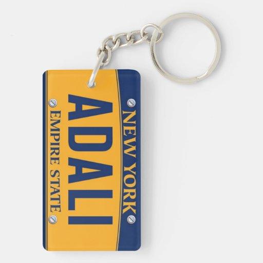 New York Empire State License Plate Art Custom Keychain ...