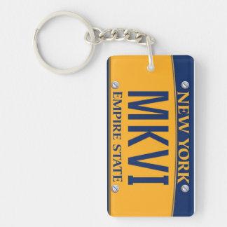 New York Empire State License Plate Keychain MKVI