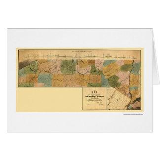 New York Erie Railroad Map 1834 Card