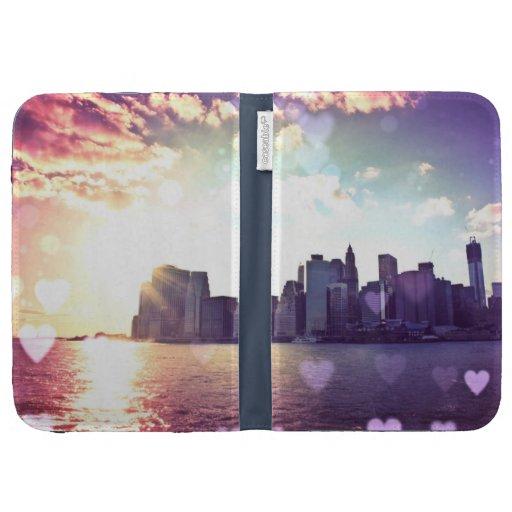 New York Fairy Tale - Rainbow Heart Bokeh Kindle Covers